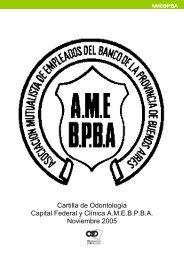Cartilla de Odontología Capital Federal y Clínica A.M.E.B.P.B.A ...