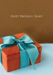 Happy Birthday, Mary! - RDL Marketing Group