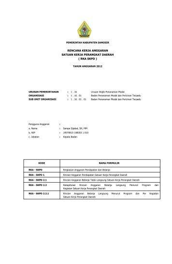 badan penanaman modal dan perizinan terpadu.pdf - Pemerintah ...