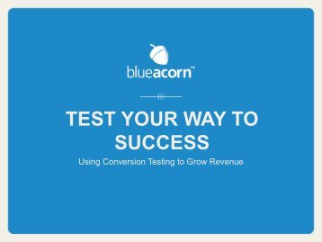 TEST YOUR WAY TO SUCCESS - Magento