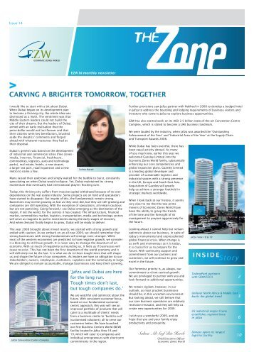 carving a brighter tomorrow, together - Jebel Ali Free Zone