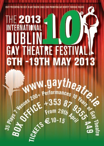 to download our PDF brochure - Dublin Gay Theatre Festival