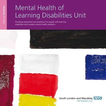 Mental Health of Learning Disabilities Unit - SLaM National Services