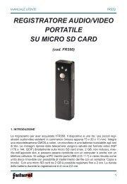 registratore audio/video portatile su micro sd card - Futura Elettronica