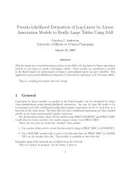 Pseudo-Likelihood Estimation of Log-Linear by Linear - Our Faculty ...