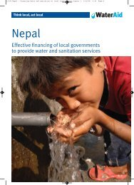 Local government financing in Nepal - WaterAid