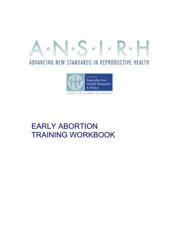EARLY ABORTION TRAINING WORKBOOK - CommonHealth