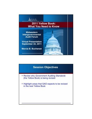 2011 government auditing standards - intergovernmental audit forums
