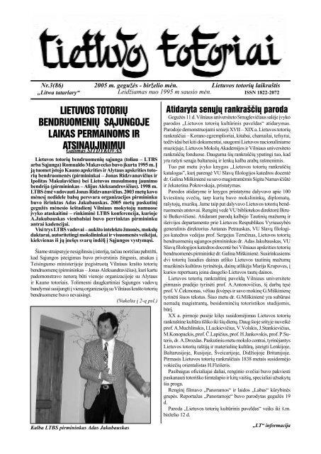 Lietuvos totoriai Nr. 86 - Tautinių bendrijų namai