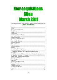 - 1 - More details about the books (summary, tables of contents or ...