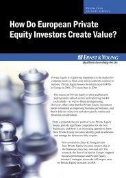 How Do European Private Equity Investors Create Value?