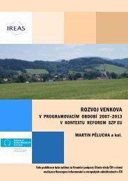 Rozvoj venkova v programovacím období 2007 - 2013 ... - Euroskop.cz