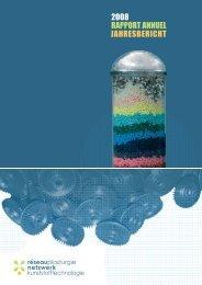 RAPPORT ANNUEL 2008 JAHRESBERICHT - Réseau plasturgie