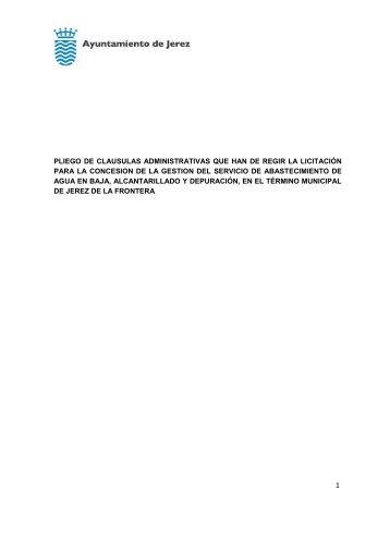 1 pliego de clausulas administrativas que han de regir la licitación ...