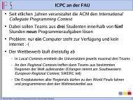 International Collegiate Programming Contest - Lehrstuhl für ...