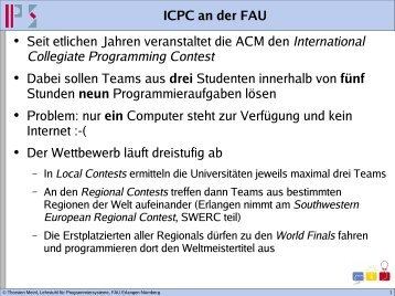 International Collegiate Programming Contest - Lehrstuhl für ...