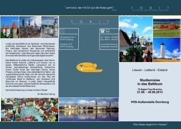 Studienreise in das Baltikum - Tobit-Reisen