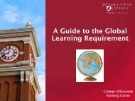 A Guide to the Global Learning Requirement - College of Business