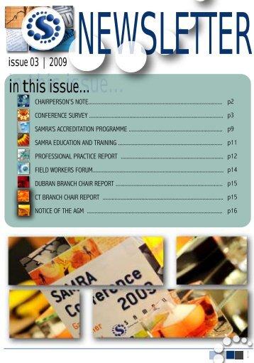 SAMRA Newsletter August 2009