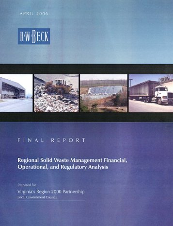 Regional Solid Waste Management Financial, Operational, and ...
