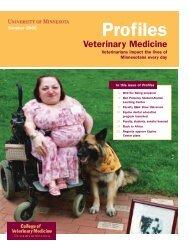 Summer 2006 - University of Minnesota College of Veterinary ...