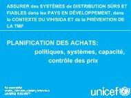 PLANIFICATION DES ACHATS: politiques, systèmes ... - ReMeD