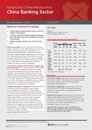 China Banking Sector - the DBS Vickers Securities Equities Research