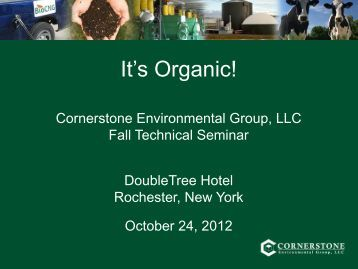 Anaerobic Digester System Selection for Organics - Cornerstone ...