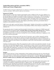 2012 Registration Policies and Terms - National Recreation and ...