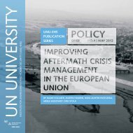 Improving Aftermath Crisis Management in the European Union
