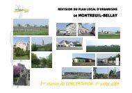 1ère réunion de CONCERTATION réunion de ... - Montreuil-Bellay