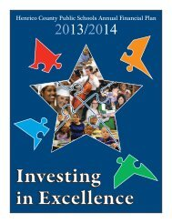 2013-14 Approved Annual Financial Plan - Henrico County Public ...