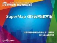 SuperMap GIS云构建方案 - 北京超图软件股份有限公司