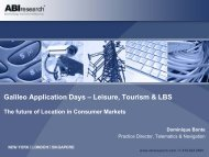 The future of Location in Consumer Markets - Galileo Application Days