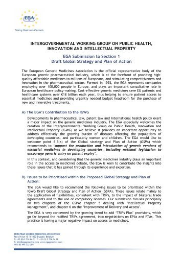 intergovernmental working group on public health, innovation and ...