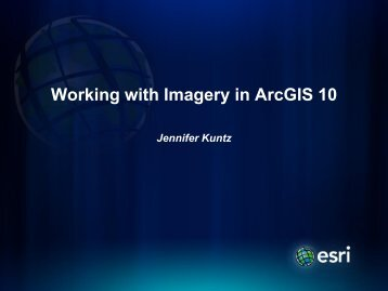 Working with Imagery in ArcGIS 10