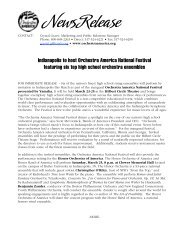 Orchestra America National Festival News Release - Music for All