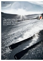 """""""The carbon makes the skis stiffer and gives them more spring. This ..."""