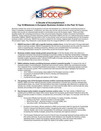 A Decade of Accomplishment: Top 10 Milestones in ... - eBace