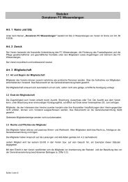 Statuten Donatoren FC Wiesendangen