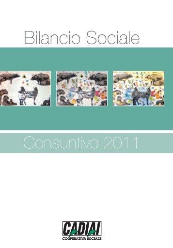 Bilancio sociale 2011 - Cadiai