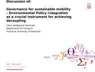 Organizational integration - Transport og miljø