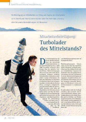 Turbolader des Mittelstands? - mit-unternehmer.com Beratungs-GmbH