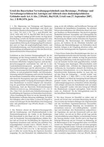 Urteil zu Nummer 2.2.5 - Bayerisches Landesamt für Denkmalpflege