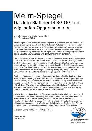 Melmspiegel 2009 I - DLRG Ortsgruppe Ludwigshafen-Oggersheim ...