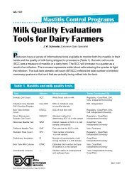 Mastitis Control Programs: Milk Quality Evaluation Tools for Dairy ...