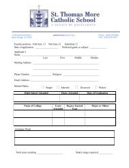 Teacher position: Full time Part time Substitute Date of application ...