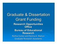 Graduate & Dissertation Grant Funding - College of Education