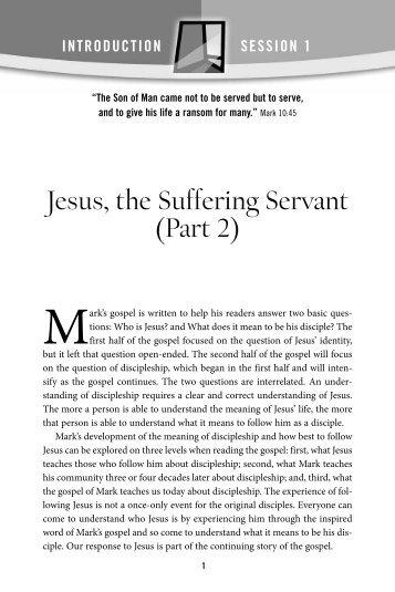 Jesus, the Suffering Servant (Part 2) - Pastoral Planning