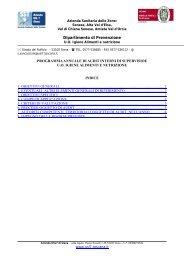 2010 Programma Audit UO Igiene Alimenti e ... - Azienda USL7